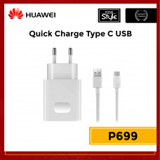 Huawei QuickCharge Wall Charger with USB Type-C  Cable