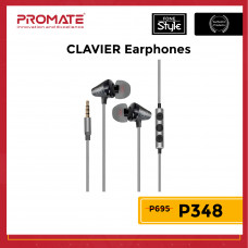 Promate CLAVIER Universal In-Ear Stereo Earphones with In-Line Mic