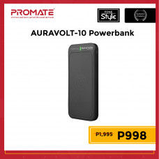 Promate AuraVolt-10 10,000mAh Qi Wireless Charging Power Bank