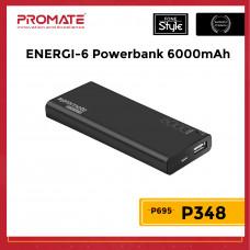 Promate ENERGI-6 High-Capacity 6000mAh Ultra Compact Portable Power Bank
