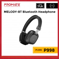 Promate MELODY-BT Premium On-Ear Wireless Stereo Headset with Music Playback Controls