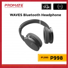 Promate WAVES Dynamic Over-Ear Wireless Stereo Headset with Built-In Music Controls