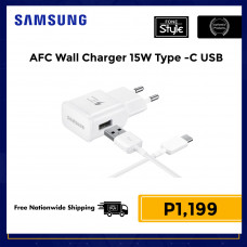 Samsung TA Adaptive Fast Charging 15W Wall Charger EU Plug with Type-C USB Cable