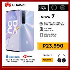 Huawei Nova 7 5G Mobile Phone 6.53-inch Screen 8GB RAM and 256GB Storage