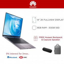 Huawei Matebook 14 with 8GB RAM and 512GB SSD