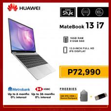 Huawei Matebook 13 i7 with 16GB RAM and 512GB SSD