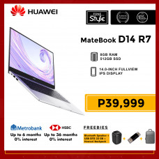 Huawei Matebook D14 R7 with 8GB RAM and 512GB SSD