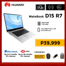 Huawei Matebook D15 R7 with 8GB RAM and 1TB HDD