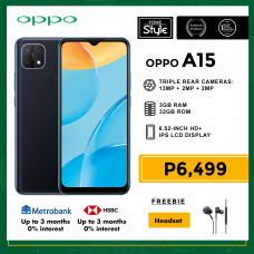 Oppo A15 Mobile Phone 6.52-inch Screen 3GB RAM and 32GB Storage