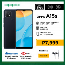 Oppo A15s Mobile Phone 6.52-inch Screen 4GB RAM and 64GB Storage