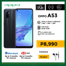 Oppo A53 Mobile Phone 6.5-inch Screen 4GB RAM and 64GB Storage