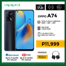 Oppo A74 Mobile Phone 6.43-inch Screen 6GB RAM and 128GB Storage