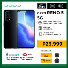 Oppo Reno 5 5G Mobile Phone 6.4-inch Screen 8GB RAM and 128GB Storage