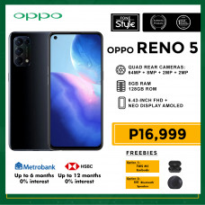 Oppo Reno 5 Mobile Phone 6.43-inch Screen 8GB RAM and 128GB Storage