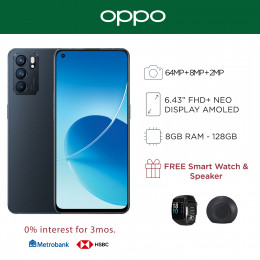 Oppo Reno 6 Mobile Phone 6.43-inch Screen 8GB RAM and 128GB Storage