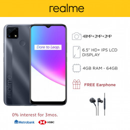 Realme C25s Mobile Phone 6.5-inch Screen 4GB RAM and 64GB Storage