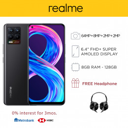 Realme 8 Mobile Phone 6.4-inch Screen 8GB RAM and 128GB Storage