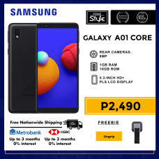 Samsung Galaxy A01 Core Mobile Phone 5.3-inch Screen 1GB RAM and 16GB Storage