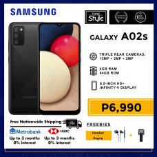Samsung Galaxy A02s Mobile Phone 6.5-inch Screen 4GB RAM and 64GB Storage