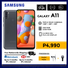 Samsung Galaxy A11 Mobile Phone 6.4-inch Screen 3GB RAM and 32GB Storage