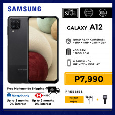 Samsung Galaxy A12 Mobile Phone 6.5-inch Screen 4GB RAM and 128GB Storage