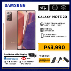Samsung Galaxy Note 20 Mobile Phone 6.7-inch Screen 8GB RAM and 256GB Storage