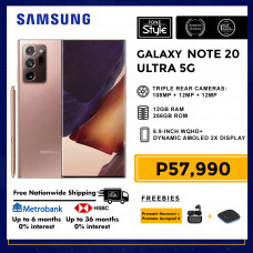 Samsung Galaxy Note 20 Ultra 5G Mobile Phone 6.9-inch Screen 12GB RAM and 256GB Storage