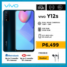 Vivo Y12s Mobile Phone 6.51-inch Screen 3GB RAM and 32GB Storage