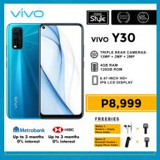 Vivo Y30 Mobile Phone 6.47-inch Screen 4GB RAM and 128GB Storage